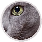 Cat Eye Round Beach Towel