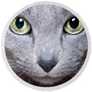 Cat Eyes Round Beach Towel