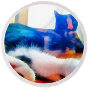 Cat Feet Round Beach Towel