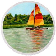 Catamaran  Round Beach Towel