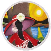Catch Me In The Morning II Round Beach Towel