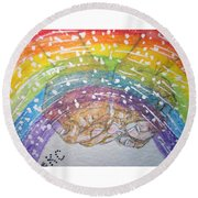 Catching A Rainbbow Round Beach Towel