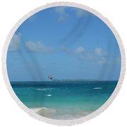 Catching Some Air At Orient Beach In Saint Martin Round Beach Towel