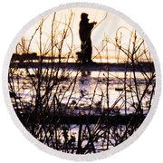 Round Beach Towel featuring the photograph Catching The Sunrise by Robyn King