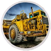 Caterpillar Cat 623f Scraper Round Beach Towel