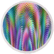 Round Beach Towel featuring the digital art Cathedral by Mariarosa Rockefeller