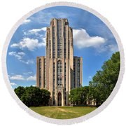 Cathedral Of Learning Pittsburgh Pa Round Beach Towel