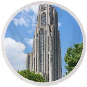 Cathedral Of Learning - Pittsburgh Pa Round Beach Towel