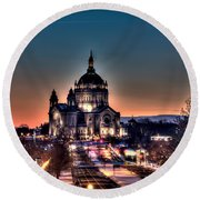 Cathedral Of Saint Paul Round Beach Towel