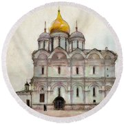 Cathedral Of The Archangel Round Beach Towel