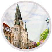 Cathedral Plaza - Jackson Square, French Quarter Round Beach Towel