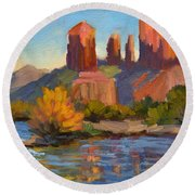 Cathedral Rock 2 Round Beach Towel