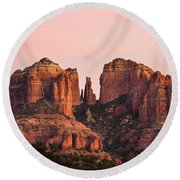 Cathedral Rock Sunset Round Beach Towel