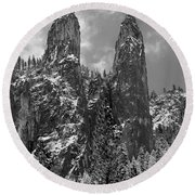 Cathedral Spires Round Beach Towel