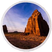 Cathedral Temples Round Beach Towel