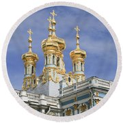 Round Beach Towel featuring the photograph Catherine's Palace by Victoria Harrington