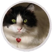 Cat's Eye Round Beach Towel