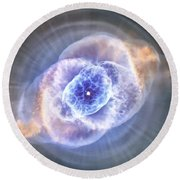 Cat's Eye Nebula Round Beach Towel