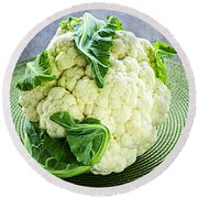 Cauliflower Round Beach Towel