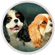 Cavalier King Charles Round Beach Towel