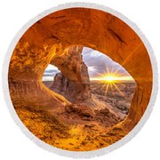 Cave Arch Round Beach Towel by Dustin  LeFevre
