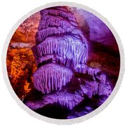 Cave Monster Round Beach Towel
