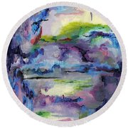 Cave Painting Round Beach Towel