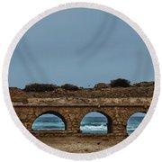 Ceasarea Aqueduct 2 Round Beach Towel