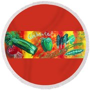 Celebrate Round Beach Towel