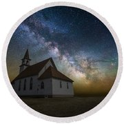 Round Beach Towel featuring the photograph Celestial by Aaron J Groen