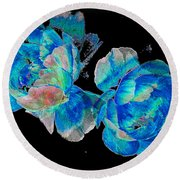 Celestial Blooms Round Beach Towel