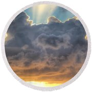 Celestial Rays Round Beach Towel