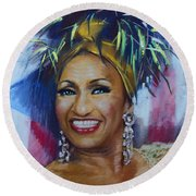 Celia Cruz Round Beach Towel