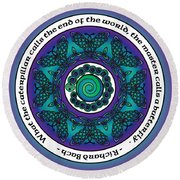 Celtic Butterfly Mandala Round Beach Towel