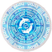 Celtic Dolphins Round Beach Towel