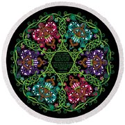 Celtic Fairy Mandala Round Beach Towel