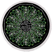 Celtic Flower Of Death Round Beach Towel