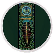 Celtic Impermanence Round Beach Towel