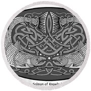Celtic Salmon Round Beach Towel