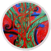 Celtic Tree Knot Round Beach Towel