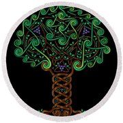 Celtic Tree Of Life Round Beach Towel