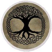 Celtic Tree Of Life Round Beach Towel