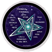Celtic Twinkle Twinkle Round Beach Towel