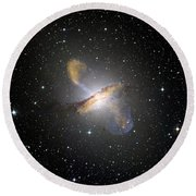 Centaurus Galaxy Round Beach Towel