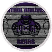 Central Arkansas Bears Round Beach Towel