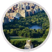 Central Park Round Beach Towel