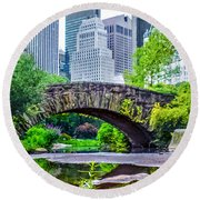 Central Park Nature Oasis Round Beach Towel