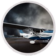 Cessna Ground Round Beach Towel