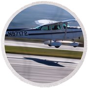 Cessna Takeoff Round Beach Towel