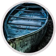 Chained At The Waters Edge Round Beach Towel